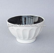 Ceramic stoneware microwave safe rice bowl two tone color