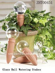 Terracotta watering stakes