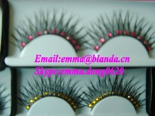 beauty false diamond synthetic strip lashes