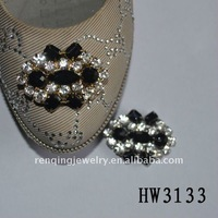 2012 popular shoe ornament with rhinestone and acrylic