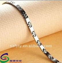 2012 fashionable charm titanium stainless steel clasp bracelet