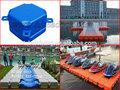 de plástico hisea barco de dique flotante