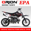 China Apollo ORION EPA 70CC Mini Dirt Bike Kids Pit bike Off Road Motorcycle