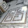 water-jet medallion flooring tile and mosaic pattern