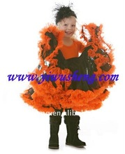 halloween day's pettiskirts baby black with orange skirts