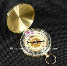 Brass Push Button Direction Compass POCKET COMPASS Luminous