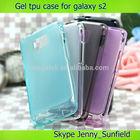 Mobile phone case Clear transparent tpu case for samsung galaxy s2 , for samsung galaxy s2 case