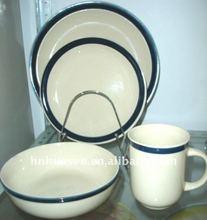 Lead free dinnerware sets,stoneware handpainted 16pcs dinnerware set