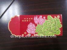 157gsm art paper embossed gold stamping red envelope