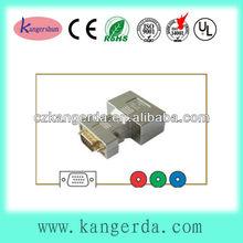 high quality gold plated nickel shell hdb 15p vga plug to 3 rca rgb jack vga to rca