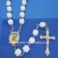 cuentas de plástico con el centro de rosario pieza de arte religioso