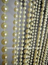 3 feet x 6 feet Ivory Faux Pearl Beaded Curtain