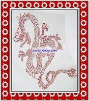 Hot fix rhinestone motif dragon design