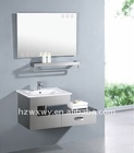 stainless steel wall hanging bathroom cabinet