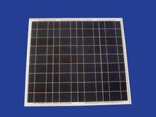 50W framed polycrystalline solar panel