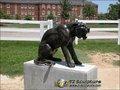 Bronze de fonte de jardin ou sculpture en laiton en grand chat