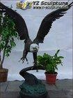 Garden Cast Brass American Eagle Sculpture