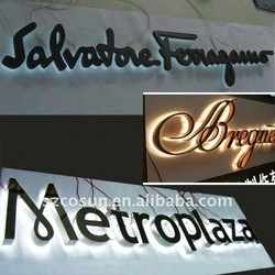 Durable LED Backlit Letter Sign for Shop Advertisement