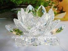 Exquisite crystal lotus,crystal glass lotus wedding decoration