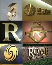 3D Golden Reception Letter Wall Signs