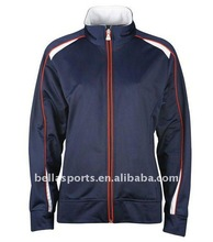 track suit design for 2012,contrast color zip tracksuits design,polyester microfibre jogging suit design