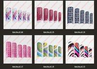 2014 New Arrivial Acrylic pre Designs Mix Fake False French Airbrush Tip Uv Pre Design Nail Art Tips 70pcs/Set