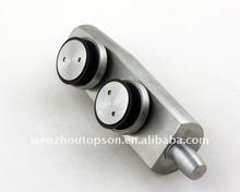stainless steel overpanel pivot for glass pivot door