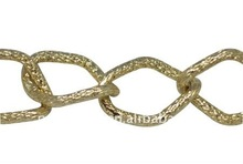 2014 Gold Plated Aluminum Side Twist Chains for Jewelry Chain Making(CHA-K1457-K29)