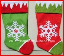 New design Xmas stockings with snow flake