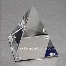 Blank crystal pyramid
