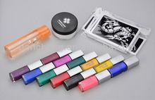Temporary tattoo condensating liquid glue kits/sets creative body art - 12 color suit