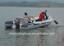CE RIB fiberglass inflatable tube fiberglass sport boat
