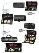 5pcs hotel shoe polish kit gift in leather case