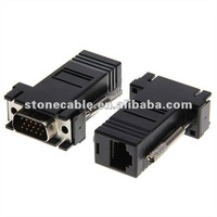 2-pack VGA Extender to RJ45 Adapter, Black