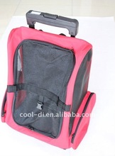 2012 fashionable pet carrier crate with handle and wheels KD0602211