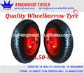 Roda do carrinho de mão pneu 3.50-8 gama de pisar na venda