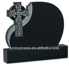black granite celtic cross monument headstones