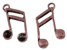 Tibetan Style Music Note Charms(TIBEP-A101083-R-LF)