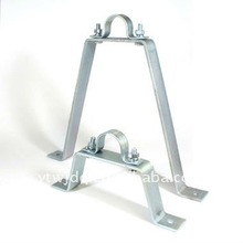 Metal brackets for pipe , Metal sliding wall bracket