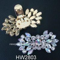 2012 hot lady sandal alloy acrylic rhinestone buckles