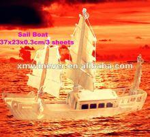 3D Gỗ Sports câu đố, thuyền buồm