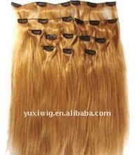 Hairpiece 100% Natural Chinese Human Remy Hair Silky Straight