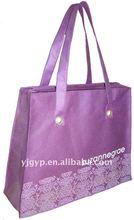 2012 HOT High quality purple non woven shopping bag