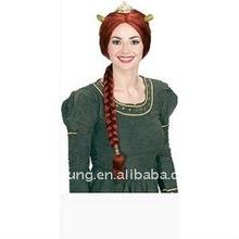 Princess Fiona Wig with Tiara and Ears
