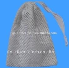 Practical polyester mesh bags drawstrings