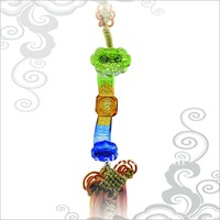 Good Lucky in Everything Azure Stone Car Decoration Hanging Charm