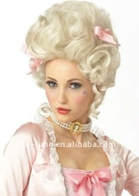 Adult White Marie Antoinette Halloween Costume Wig