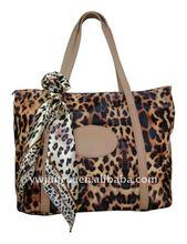 2012 New Arrival Ladies' Leopard Cotton Fashion Handbag