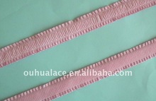 Shoulder Elastic Tape(Strap) with plush back & ruffled edge