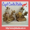 Polyresin Golden Retrostyle Baby Angels Candle Holder